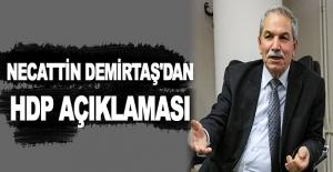 Necattin Demirtaş'tan HDP açıklaması