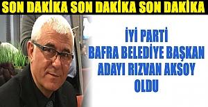 Rızvan Aksoy Bafra Belediye Başkan...
