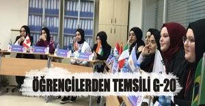 Samsun'da Öğrencilerden Temsili G-20 zirvesi