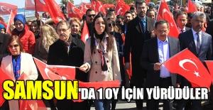 Samsun'da 1 oy için yürüdüler