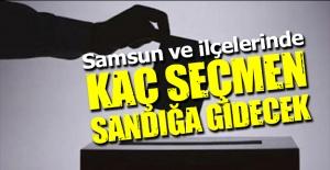 Samsun'da seçmen sayıları açıklandı