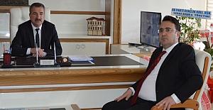 Kaymakam Yılmaz'dan Başkan Özdemir'e ziyaret