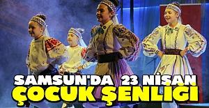 Samsun'da  23 Nisan Çocuk Şenliği