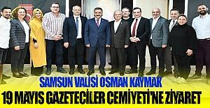 Vali Kaymak`tan Gazetecilere ziyaret