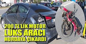 Bafra'da şaşırtan kaza!