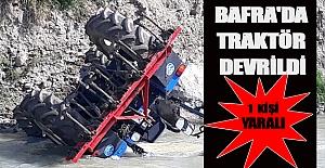 Bafra#039;da traktör devrildi