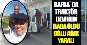 Bafra`da Traktör Kazası