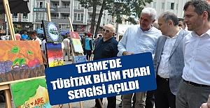 Terme'de TÜBİTAK Bilim Fuarı Sergisi...