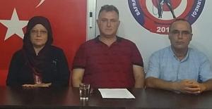 Bafra Şehit Aileleri basın açıklaması