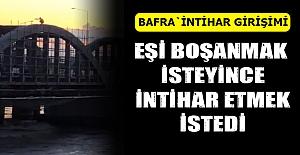 Bafra`da İntihar Girişimi