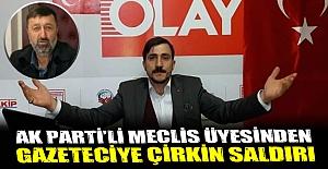 Gazeteci İbrahim Akkuşa çirkin...