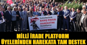Milli İrade Platform Üyelerinden Harekat'a Tam Destek