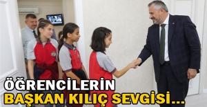 Öğrencilerin Başkan Kılıç Sevgisi…