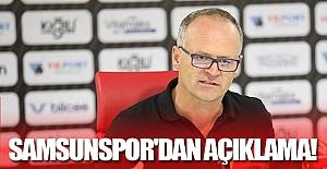 Samsunspor'dan açıklama