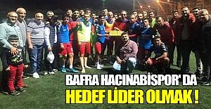 Bafra Hacınabispor#039; da Hedef...