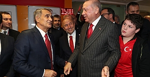 Erdoğan, Türkiye-İzlanda maçını izledi