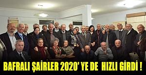 Bafralı şairler 2020' ye de hızlı girdi