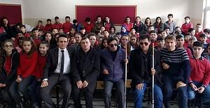 Görme Engelliler Derneği Nazmiye Demirel Ortaokulu' nda