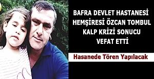 Hemşire Özcan Tombul Kalp Krizi Sonucu...