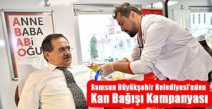 Samsun Büyükşehir Belediyesi'nden Kan Bağışı Kampanyası