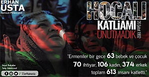 Erhan Usta, Hocalı katliamını şiddetle kınıyorum
