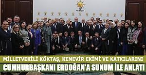 Köktaş  Cumhurbaşkanı Erdoğan`a keneviri anlattı
