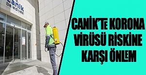 Canik'te Korona Virüsü Riskine Karşı Önlem