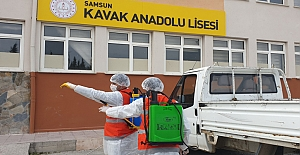 Kavak Anadolu Lisesi' nde Corona Virüsü...