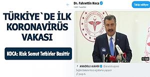 Koronavirus Türkiye'de görüldü