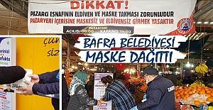 Bafra Belediyesi Maske Dağıttı