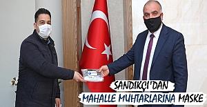 Sandıkçı'dan mahalle muhtarlarına maske