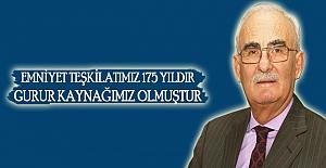 Türk polis teşkilatının 175. Kuruluş yıl dönümü mesajı