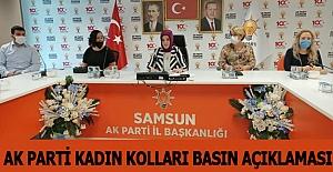 Ak Parti Samsun Kadın Kolları Basın Açıklaması