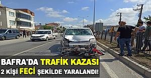Bafra#039;da trafik kazası meydana...