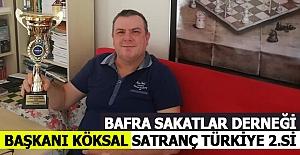 Bafra Sakatlar Derneği Başkanı Köksal...
