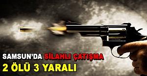 Samsun#039;da silahlı çatışma...