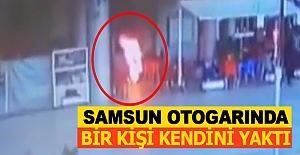 Samsun Otogarında bir kişi kendini yaktı