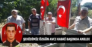 ŞEHİT J.ONB.ÖZGÜN AVCI KABRİ BAŞINDA ANILDI