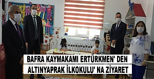 Kaymakam ERTÜRKMEN' den Altınyaprak İlkokulu' na Ziyaret