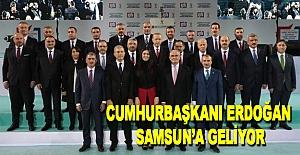 Cumhurbaşkanı Erdoğan Samsuna...