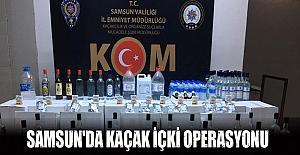Samsun'da kaçak içki operasyonu!