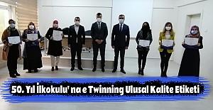 50. Yıl İlkokulu' na e Twinning Ulusal Kalite Etiketi