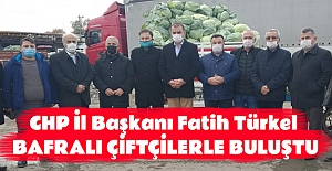CHP İl Başkanı Fatih Türkel Bafralı...
