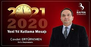 Kaymakam Cevdet Ertürktmen'den Yeni Yıl Mesajı
