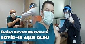 Bafra Devlet Hastanesi Covid-19 aşısı oldu