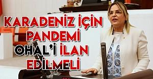 """Hancıoğlu:Karadeniz için pandemi OHAL'i ilan edilmeli"""""""