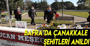 Bafra'da Çanakkale Şehitleri Anıldı