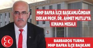 Bafra MHP`den Kınama Mesajı