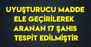 Samsun#039;da Aranan 17 Şahıs Tespit...