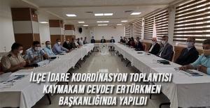 İlçe İdare Koordinasyon Toplantısı Yapıldı